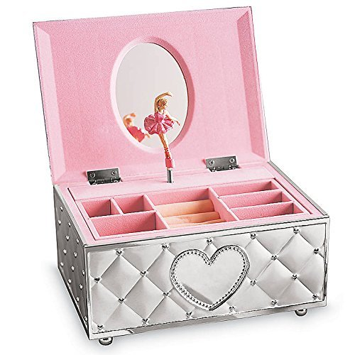 Lenox Childhood Memories Musical Ballerina Jewelry Box, 2.35 LB, Metallic
