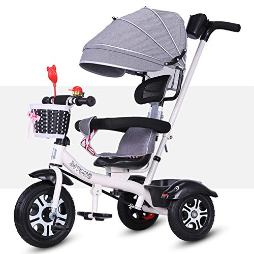Kinderfiets kinderfiets kinderfiets driewieler 1-3-6 jaar Large Trolley HUYP