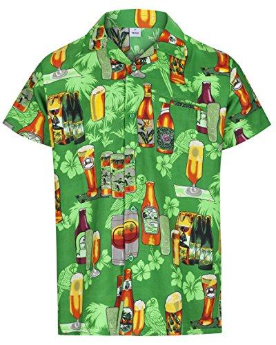 Redstar Fancy Dress - Camisa Hawaiana de Manga Corta - para Hombre - Cerveza y Playa...