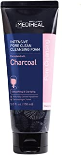 MEDIHEAL [US Exclusive Edition] - Intensive Pore Clean Cleansing Foam - Formulated with Charcoal, 5.0 fl.oz (150ml)