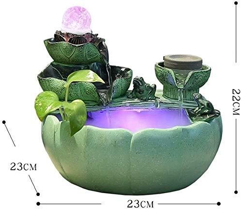 KEKEYANG Escritorio Decorativa Fuente de Interior - el Flujo de Agua - Bonsai - Puede criar Peces o humidifica Fuente Interior (Color : C)
