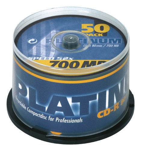 Platinum CD-R 700 MB CD-Rohlinge 52x Speed, 80 Min, 2 x 25er Spindel