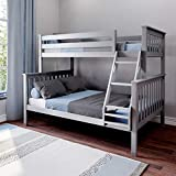 Max & Lily Bunk Bed, Twin/Full, Grey
