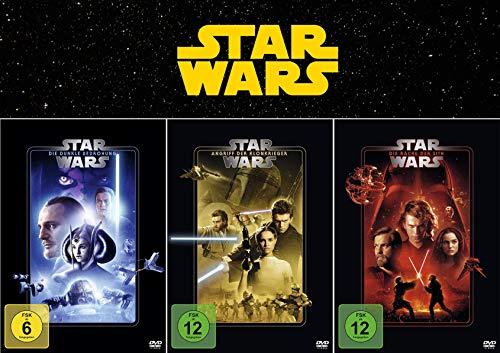 Star Wars Trilogie - Der Anfang: (1) Die dunkle Bedrohung + (2) Der Angriff der Klonkrieger + (3) Die Rache der Sith [3-DVD]