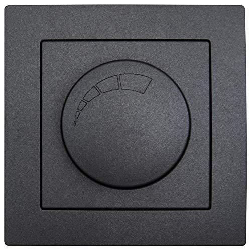 MC POWER - LED Dimmer für elektronische Trafos | FLAIR | 250V/300W, Memory-Funktion, UP, anthrazit, matt