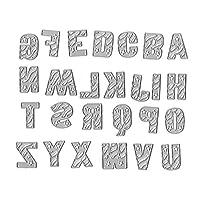 WjingjingJ Alphabet Letter Metal Cutting Dies Stencil DIY Scrapbooking Album Stamp Paper Card Embossing Decor Craft カッティングナイフモールド手作りDIY