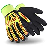 HexArmor Rig Lizard 2099 Double Coated Water Resistant Work Gloves with Impact Protection ...