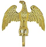 Gold Eagle Flag Pole Top Finial Topper Ornament Handcrafted Plastic for 16' 20' 25' Telescopic Flagpoles