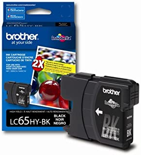 Brother LC65HYBK High Yield Ink Cartridge - Retail Packaging-Black
