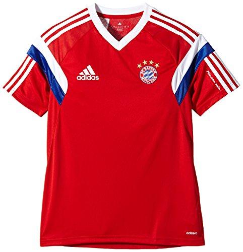 adidas Kinder Shirt FC Bayern Training Jersey für Youth, FCB True Red/White, 176