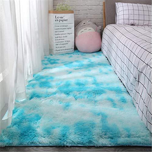 BBXW Weich Flauschig Schlafzimmer Teppich,Bequem Anti Rutsch Langflor Teppiche,Teppiche Für Startseite Wohnzimmer,Kindergarten Akzent Ornament Fußmatten