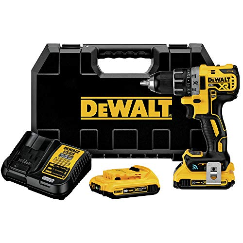 Dewalt DCD792D2R 20V MAX XR Brushless Lithium-Ion 1/2 in. Cordless Compact Drill Driver Kit with Tool Connect (2 Ah) (Renewed)