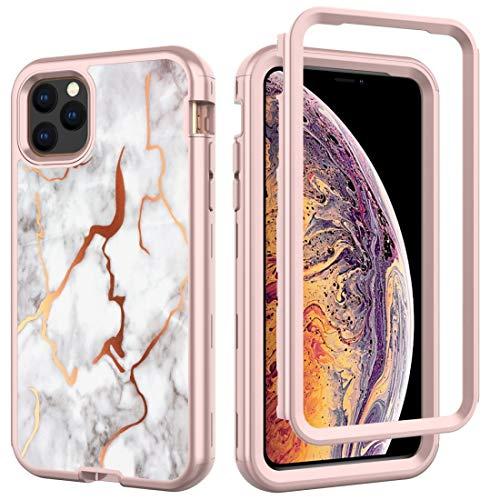 Xyamzhnn For iPhone MAX 11 Electrochapado IMD Cobertura Completa a Prueba de Golpes PC + Skin Pro + Funda de Silicona (Color : ZCA1-0002)