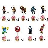 18 compteurs d'anniversaire pour petits gâteaux d'anniversaire pour décorations Roblox Cupcake - Party Decor Topper