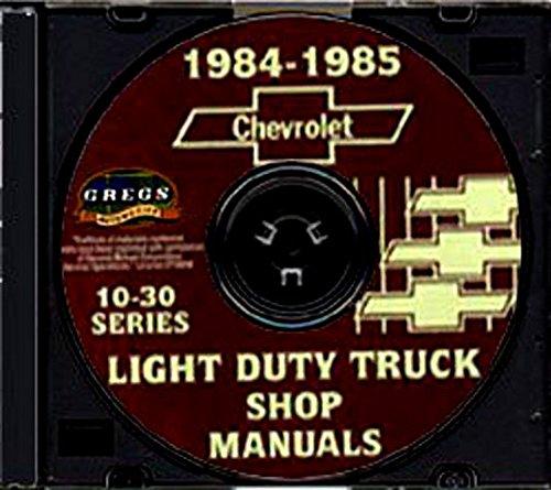 STEP-BY-STEP 1984 1985 CHEVROLET FACTORY VANS REPAIR SHOP & SERVICE MANUAL CD - INCLUDES: SPORTVAN & CUTAWAY VAN - CHEVY 84 85