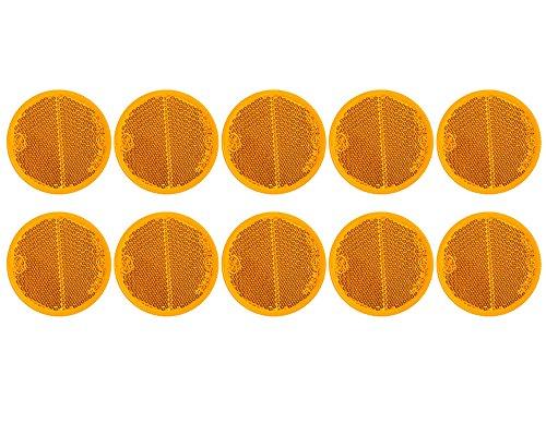 10x Reflektor orange 60mm selbstklebend von The Drive