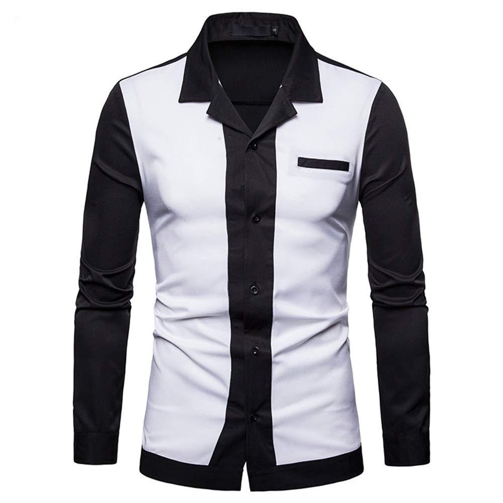 Susulv-MCL Camisa de los Hombres Camisa de Manga Larga de Gran tamaño para Hombres Camisas Casuales (Color : Blanco, tamaño : S): Amazon.es: Hogar