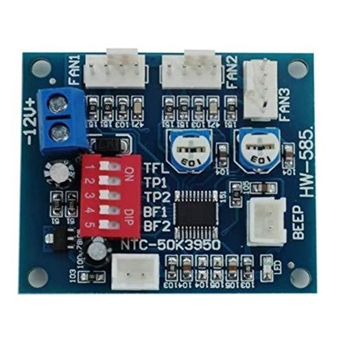 BOINN Regulador de Voltaje 12V PWM PC CPU Control de Temperatura del Ventilador MóDulo Controlador de Velocidad Control de Velocidad de Alarma de Alta Temperatura