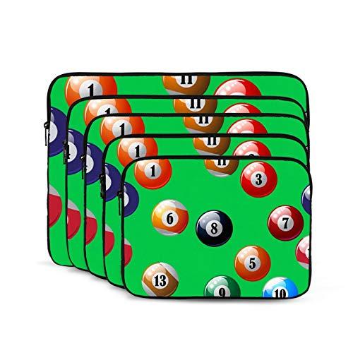 Computer Liner Bag Ipad Bag Compatible with More Computers for Men Women Teens Color Billiards Balls-15 inch