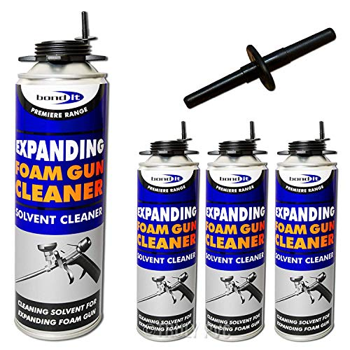 3 x 500ml Expanding Foam Gun Cleaner Professional Can Solvent Cleaning  Remover