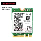MU-MIMO AX200 AC AX200 Ngff WiFiカード AX200NGW M.2NGFF 2.4/ 5ghz Bluetooth 5.0 802.11AX 802.11AX 2.4Gbps Windows 10 対応ワイヤレスカード