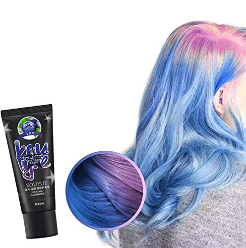 Thermochronic Color Changing Wonder Dye, Mode DIY Semi Permanent Haarfarbe, Temporäre Temperatur Farbwechsel Haarfärbemittel für Party Festival Cosplay Halloween (Blau)