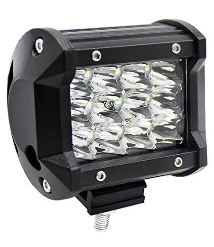 ALPHA DIMA 36W 72W 120W 180W LED Phare de Travail 12V 24V Lampes de Travail Etanche IP67 Spot Flood Feux Antibrouillard LED Feux de Travail pour Voiture Camion Tracteur SUV Bateau(36W)