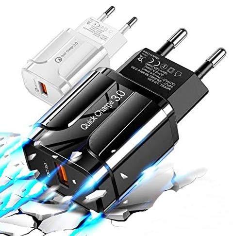 Cargador 18W 3.0 USB 5V 3A - Quick Charge - Goeik - Negro