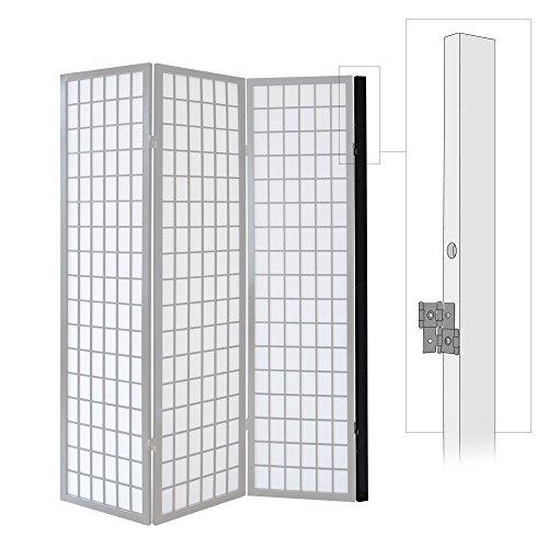 Homestyle4u 1107, Wandhalterung Raumteiler, Wandhalter Wandbefestigung Paravent, Schwarz