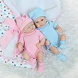 Rebirth Doll, juguetes para niños Reborn 10 pulgadas 26cm Real Look Twin Reborn Real Touch Suave de cuerpo completo Vinilo Silicona Realista Reborn Baby Dolls Realistic Newborn Baby Doll Boy and
