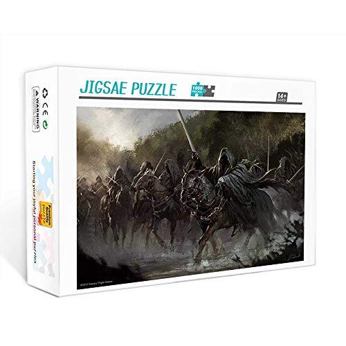 Puzzle de 1000 piezas para adultos señor de los Anillos Juego familiar, trabajo en equipo, regalo y regalo para amantes o amigos. 75x50cm
