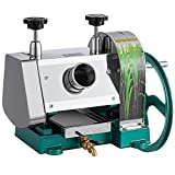 SHZOND Manual Sugarcane Juice Machine, Stainless Steel Sugar Cane Juicer,Commercial Sugar Cane Press Extractor with Handwheel Efficient Juicing 110 Lbs Output per Hour