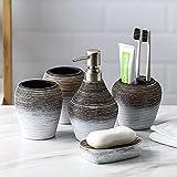 QIANGU Juego De Accesorios De Baño Ceramica Juego De Accesorios para Cuarto De Baño Multifuncional por El Hogar Y El Hotel Incluido (Color : 5pcs)