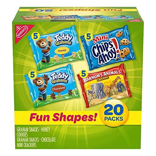 Best Price Nabisco Fun Shapes Cookie & Cracker Mix, Variety Pack with Teddy Grahams, Chips Ahoy! Coo...