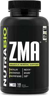 NutraBio ZMA Supplement – 180 Capsules