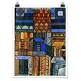 Bilderwelten Poster Cuadro Decoracion de Pared Paul Klee - Incipient Cool, Mate 80 x 60cm