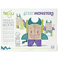 Tegu Pip マグネット木製ブロックセット モンスターマッシュ 8ピース