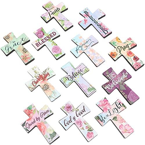 Juvale Christian Cross Magnetic Bookmarks (24 Pack) 12 Designs