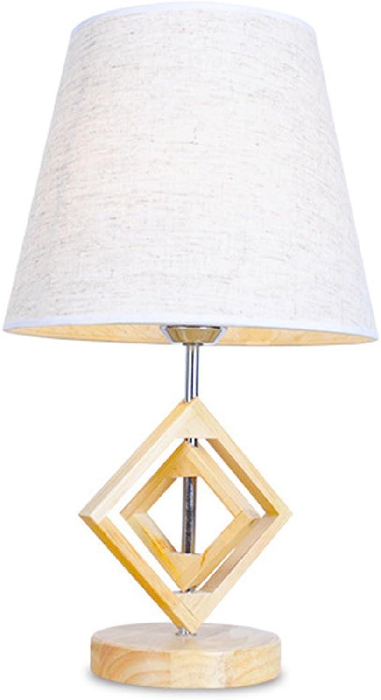 XUXUEPING Tischlampe Holz Schlafzimmer Nachttisch Kreative Einfache Nordeuropa Schreibtischlampe