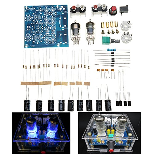 Fantastic Prices! ILS – 6J1 Pre-amp Tube Preamplifier Amplifier Stereo AC12V DIY Kit