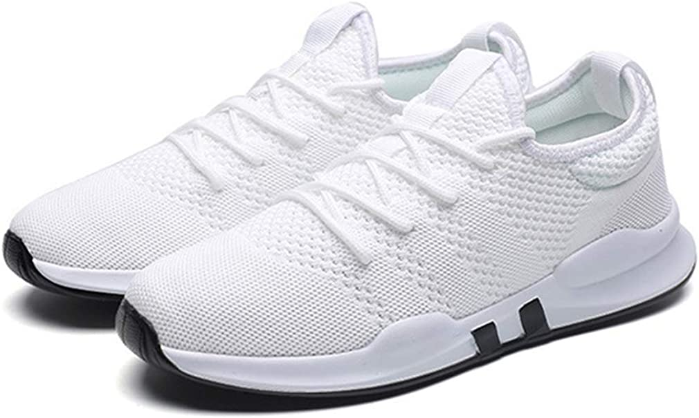 Juleya Mens Womens Trainers - Lace Up Sneaker, Casual Walking Running Sports Shoes - 190521YDX02 White