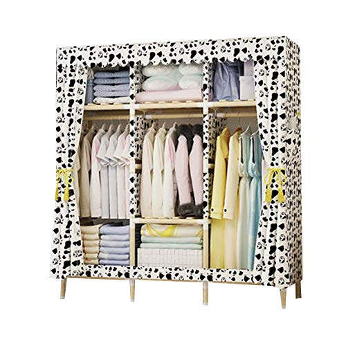Fantastic Prices! PENG Wardrobe Simple Cloth Wardrobe Rental Solid Wood Single Double Bedroom Simple Modern economical Assembled Hanging Wardrobe Cabinet