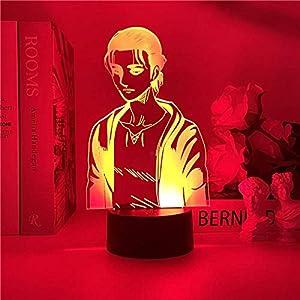 Yeager 2021 NEW 3D luce notturna in titanio per camera da letto dei bambini, decorazione della luce, tavolo di cambiamento, lampada da notte con attacco al titanio regalo ZGLQ 10 spesavip