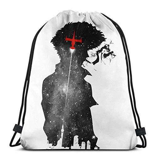 Drawstring Backpack Bags,Cowboy Bebop Spike Spiegel School Backpack Foldable Gym Bag Waterproof String Backpack Stylish Sackpack Backpack For Men & Women