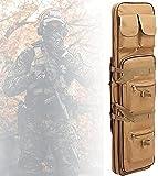 YQJY Bolsa para Rifle Funda para Armas Pistola Bolsa de Almacenamiento Mochila para Pistola,Escopeta de Airsoft con Correa para el Hombro,Impermeable,para Caza y Pesca,C-100cm/39.4in