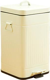スチールペダルペール 5L用『FTC023』【GL】角型・ベージュ(#9810624) 蓋付き ゴミ箱