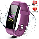 Fitness Trackers- Activity Tracker Watch with Heart Rate Blood Pressure Monitor, Waterproof Watch