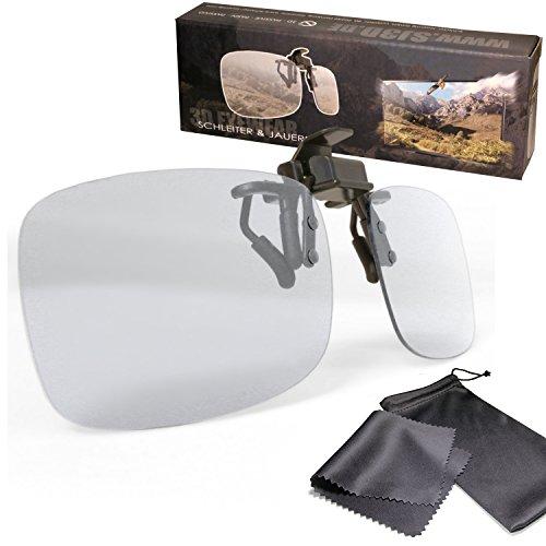Gafas de clip 3D pasiva VERSION 2 para RealD - un montaje/sobrepuesto...