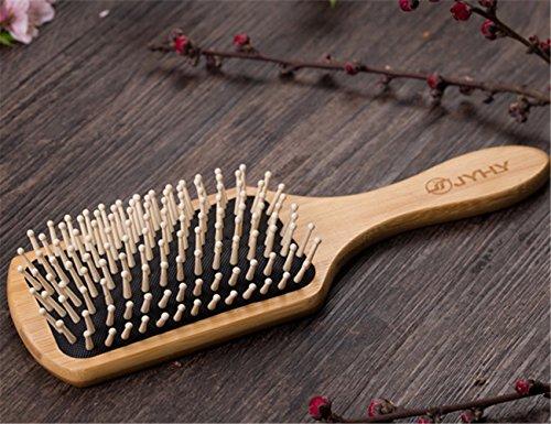 JYHYEU - Cepillo plano para cabello de madera natural con aceite de...