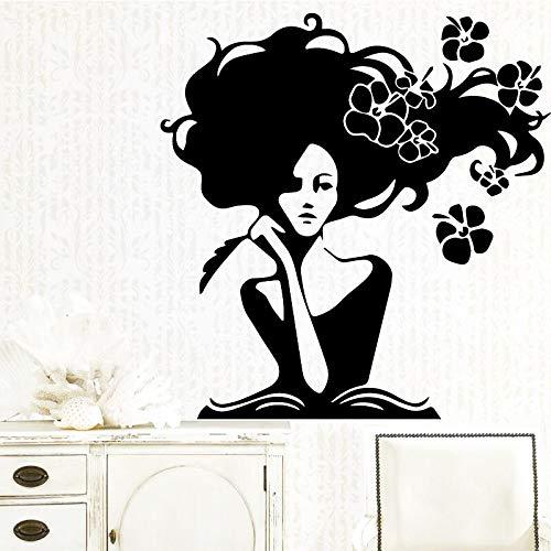 Geiqianjiumai Lustige schönheit wandaufkleber benutzerdefinierte kreative kinderzimmer Wohnzimmer Dekoration Kunst wandaufkleber wandbilder 51,6x52,8 cm